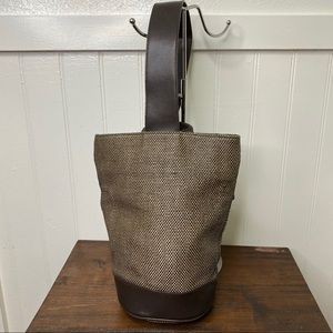 Gap Brown Leather One Strap Bucket Backpack